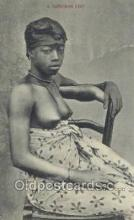 afr002297 - A Saffrokoh Girl African Nude Nudes Postcard Post Card