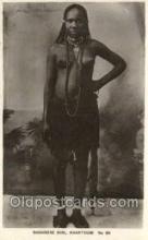 afr002301 - Sudanese Girl , Khartoum African Nude Nudes Postcard Post Card