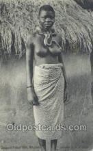 afr002303 - Serpent Fetish - Girl Whydah African Nude Nudes Postcard Post Card
