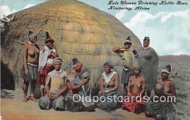 afr002331 - Tulu Women Drinking Kaffir Beer Kimberley, Africa Postcard Post Card