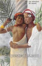 afr002334 - Les Amoureux Gli Amanti Postcard Post Card