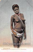 afr002336 - Young Zulu Girl Johannesburg Postcard Post Card