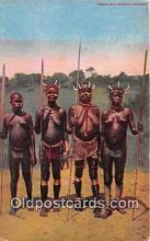 afr002339 - Women Kill Hippopotami Kavirondo Women Postcard Post Card