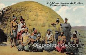 afr002341 - Zulu Women Drinking Kaffir Beer Kimberley, Africa Postcard Post Card
