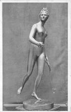 afr002438 - Bronze Statue in the Louvre, Paris African Nude Postcard
