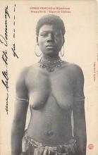 afr002457 - Femme Bavill Region de Tchikaka African Nude Postcard
