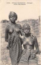 afr002458 - Jeunes Filles Saussais African Nude Postcard