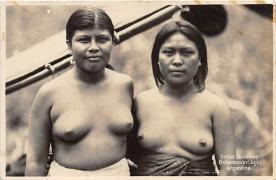 afr002459 - Embarcacion Jujuy Argentina African Nude Postcard