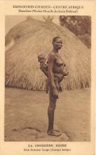 afr002464 - La Croisiere Noire, Une Femme logo Congo Belge African Nude Postcard