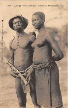 afr002482 - Couple de Mankaignes African Nude Postcard