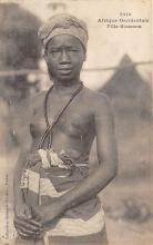 afr002491 - Fille Soussou African Nude Postcard
