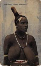 afr002504 - Peculiar Head Dress African Nude Postcard