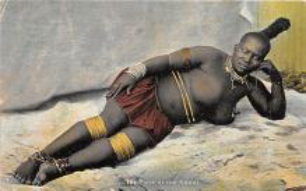 afr002552 - African Nude Postcard