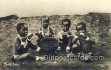 afr100186 - Young Zulus African Life Postcard Post Card