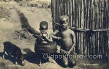 afr100187 - at the Kraal African Life Postcard Post Card