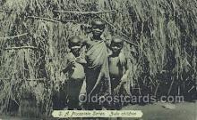 afr100197 - Zulu Children African Life Postcard Post Card