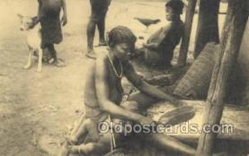afr100387 - Congo Belge African Life Postcard Post Card