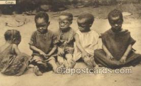 afr100401 - Congo Belge African Life Postcard Post Card