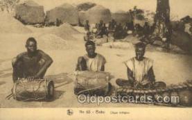 afr100403 - Congo Belge African Life Postcard Post Card