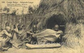 afr100407 - Congo Belge African Life Postcard Post Card
