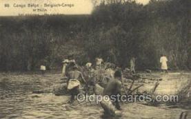 afr100408 - Congo Belge African Life Postcard Post Card