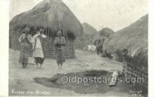 afr100453 - Villiage Near Kologwe African Life Postcard Post Card
