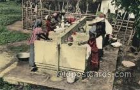 afr100510 - Congo Belge African Life Postcard Post Card