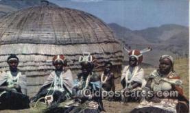afr100516 - Bantu Life African Life Postcard Post Card