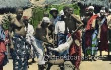 afr100538 - Sacrifice Ritual African Life Postcard Post Card
