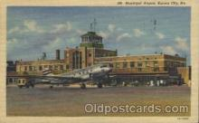 air001115 - Municipal, Kansas City, Mo. Airline, Airlines, Airplane, Airplanes, Postcard Post Card