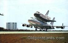 air001169 - Columbla and NASA 747 Kennedy Space Center, Florida USA Airline, Airlines, Airplane, Airplanes, Postcard Post Card