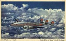 air001244 - Constellation In Flight Airplane, Aviation, Postcard Post Card