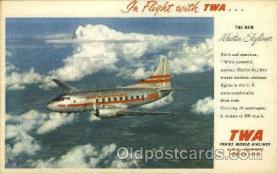 air001258 - New TWA Martin Skyliner Airplane, Aviation, Postcard Post Card