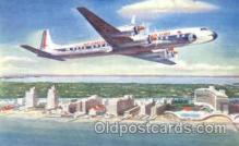 air001259 - Eastern Airlines Golden Falcon DC-7B Airplane, Aviation, Postcard Post Card