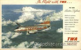 air001264 - TWA New Martin Skyliner Airplane, Aviation, Postcard Post Card