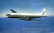 air001269 - United Airlines Four Engine DC-7 Mainliners  Airplane, Aviation, Postcard Post Card