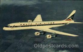 air001273 - Deltas Modern Jet Fleet Convair 880 Airplane, Aviation, Postcard Post Card
