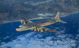 air001274 - The DC-7  Airplane, Aviation, Postcard Post Card