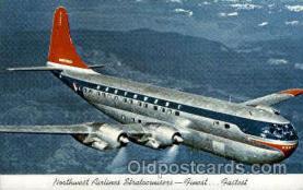 air001290 - Northwest Airlines 75 Passenger Double Deck Boeing Stratcruisert Airplane, Aviation, Postcard Post Card