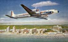 air001306 - Eastern Airlines Golden Falcon DC-7B Airplane, Aviation, Postcard Post Card