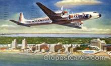 air001307 - Eastern Airlines Golden Falcon DC-7B Airplane, Aviation, Postcard Post Card