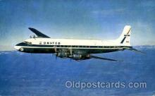 air001321 - United Airlines Four Engine DC-7 Mainliners  Airplane, Aviation, Postcard Post Card