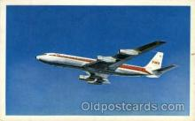air001371 - TWA Star Stream Airplane, Aviation, Postcard Post Card