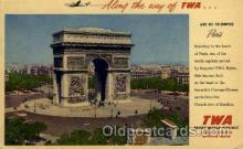 air001373 - TWA Arc DE Triomphe Paris  Airplane, Aviation, Postcard Post Card