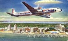 air001375 - Eastern Airlines Golden Falcon DC-7B Airplane, Aviation, Postcard Post Card