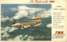 air001377 - TWA New Martin Skyliner Airplane, Aviation, Postcard Post Card