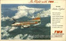 air001378 - TWA Martin Skyliner Airplane, Aviation, Postcard Post Card