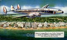air001383 - Eastern Airlines Turbo Compound Powered Super C Constellation, Miami Beach, FL USA Airplane, Aviation, Postcard Post Card