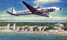 air001384 - Eastern Airlines Golden Falcon DC-7B Airplane, Aviation, Postcard Post Card
