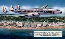 air001396 - Eastern Airlines Turbo Compound Powered Super C Constellation, Miami Beach, FL USA Airplane, Aviation, Postcard Post Card